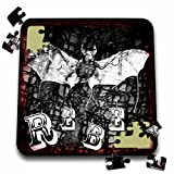 WhiteOaks Photography and Artwork - Halloween - Halloween Rebel is my yearly Halloween design with bats and rebel - 10x10 Inch Puzzle (pzl_245651_2)