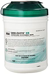 Sani-Cloth INFH635 HB Germicidal Wipe Surface Cleaner, Alcohol-Free, 6\