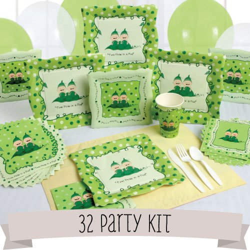 Party Kit Twins - Two Peas in a Pod - 32 Person