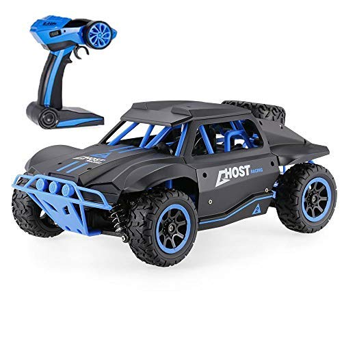 Blexy RC Cars 1/18 Scale 4WD High Speed Rock Crawler Vehicle 15.5MPH+ 2.4Ghz Radio Remote Control Off Road RTR Racing Monster Trucks Fast Electric Race Desert Power Buggy ()