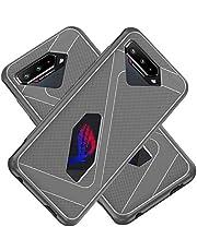 جراب لموبايل اسوس روج 5 من راني، بتصميم شبكي ضيق يبدد الحرارة، مع زوايا معززة لامتصاص الصدمات وحماية للموبايل بالكامل من المطاط المرن، لموبايل اسوس روج 5 مقاس 6.78 بوصة، لون رمادي