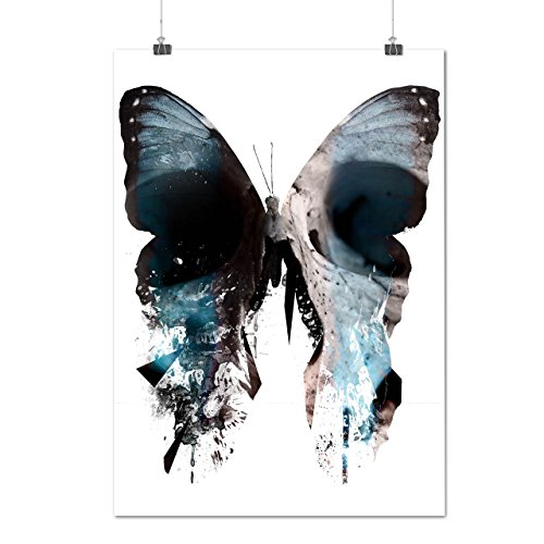 [Butterfly Skull Face Bone Bug Matte/Glossy Poster A2 (17x24 inches) | Wellcoda] (Skeleton Costume Pose)