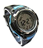 Ravel Girls/Kids Digital LCD Sports Watch - Boxed - Multi Functional- 14-20cm Strap - 3ATM - Blue