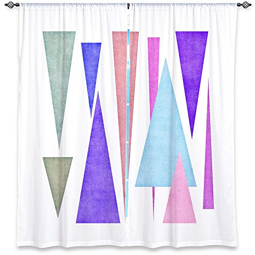 (Window Curtains Unlined from DiaNoche Designs Unique, Decorative, Funky, Cool by Iris Lehnhardt - Triangle Pattern IV)