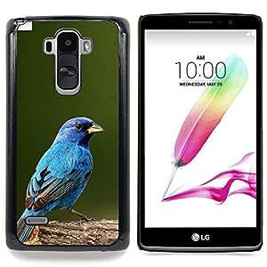"""Azul Songbird Blue Spring Green Nature"""" - Metal de aluminio y de plástico duro Caja del teléfono - Negro - LG G4 Stylus / G Stylo / LS770 H635 H630D H631 MS631 H635 H540 H630D H542"""