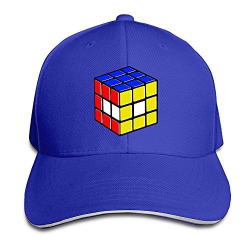Macevoy Rubik's Cube World Casual Unisex Unstructured Cotton Cap Adjustable Baseball Hat Cap RoyalBlue -