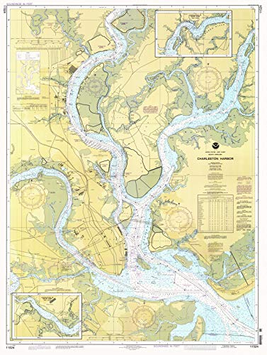 Map Historical Reproductions (1996 Nautical Chart | Historical Charleston Harbor | SC Vintage Map Fine Art Reproduction Print)