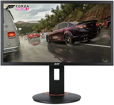 """Acer XFA240 bmjdpr 24"""" Gaming G-SYNC Compatible Monitor 1920 x 1080, 144hz Refresh Rate, 1ms Response Time with Height, Pivot, Swivel & Tilt, Black"""