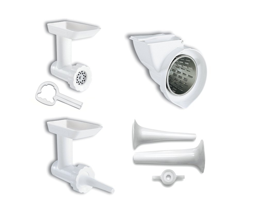 KitchenAid KGSSA Stand Mixer Attachment Pack 2 with Food Grinder, Rotor Slicer & Shredder, and Sausage Stuffer
