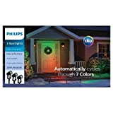 Set of 3 Philips Color Changing Christmas Spotlights - Cycles Through 7 Colors