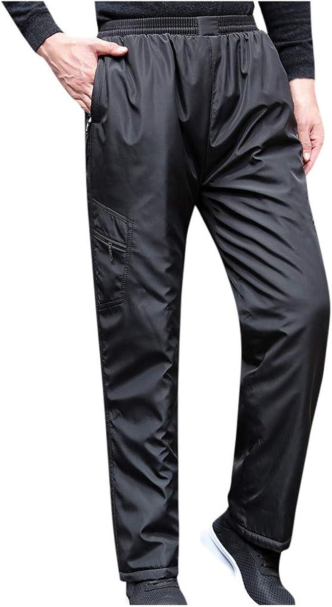 Qinhanjia Men S Autumn Winter Solid Thickening Thermal Trousers Drawstring Long Pants Men Trousers Autumn Winter Fleece Athletic Pants Winter Drawstring Breathable Thermal Waterproof Pants Bekleidung