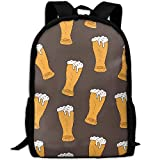 Backpack Cool Beer Background Mens Laptop Backpacks Shoulder Bag School Daypack
