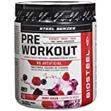 BioSteel Sports Pre Workout Powder, Berry Fusion, 30 Servings, 30 count