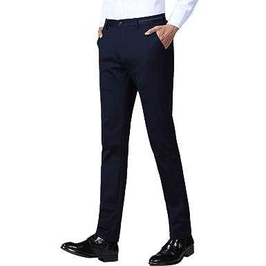 HaiDean Pantalones De Traje De Los De Hombres Pantalones ...