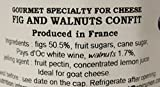 Fig and walnut French Imported confit for cheeses 4.4 oz jar by lEpicurien France