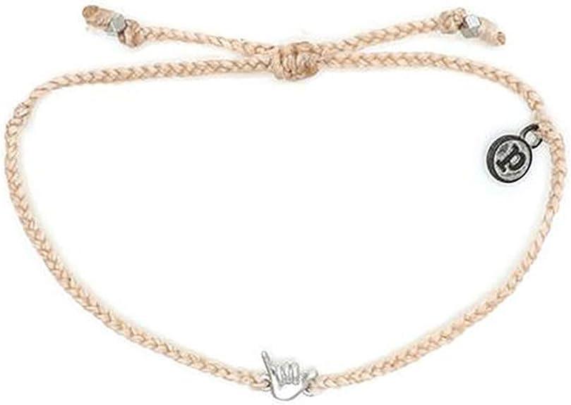 Pura Vida Silver Shaka Bracelet 100/% Waterproof Adjustable Band Iron-Plated Charm
