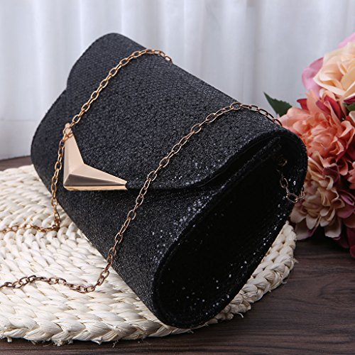 Black Shoulder Women Clutch Silver Banquet JAGENIE New Bridal Party Handbag Bag Prom Wedding Evening qBOwxZAp