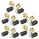 Uxcell Power Tool Carbon Motor Brushes, 15/32 x 1/4 x 15/64 inch, 10pcs