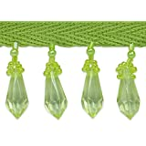 Expo International Olga Diamond Cut Beaded Fringe Trim, 10 yd., Lime