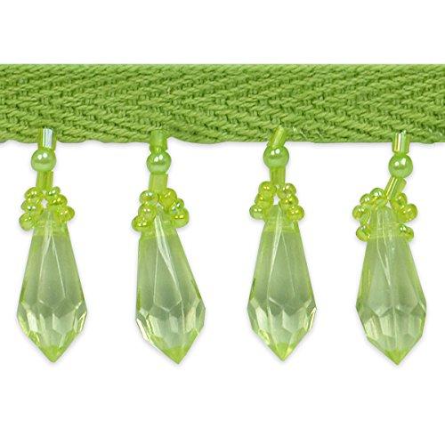 Expo International Olga Diamond Cut Beaded Fringe Trim, 10 yd., Lime by Expo International Inc.