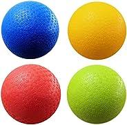 AppleRound 8.5 Inch Playground Balls (Set of 4) with 1 Hand Pump