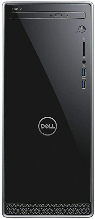 2019_Dell Inspiron 3670 Desktop Computer PC with 9th Gen Intel i3-9100, 1TB HDD, 8GB RAM, DVD R/W, Wireless + Bluetooth, HDMI | VGA, SD Card Reader,Windows 10