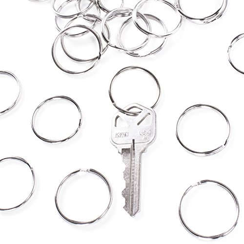 Nickel Circular Keychain Organization Lanyards