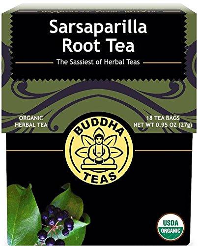 Organic Sarsaparilla Tea - Kosher, Caffeine-Free, GMO-Free - 18 Bleach-Free Tea Bags ()