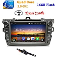 TOCADO Backup Camera & In-Dash DVD Receiver Quad Core 2 Din Android 6.0 with 8 Display Car DVD Player with Bluetooth USB SD GPS Navigation Stereo for Toyota Corolla 2007 2008 2009 2010 2011