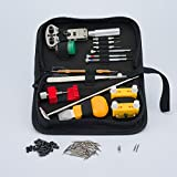 Clockwork Hen Professional Watch Repair Tool Kit. Watchmaker multi toolset best for battery replacement, changing and resizing watch straps. INSTRUCTIONS, zipped case, spring pins and microfiber cloth