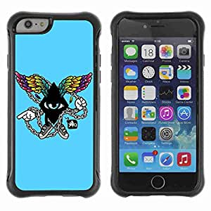 """A-type Arte & diseño Anti-Slip Shockproof TPU Fundas Cover Cubre Case para 4.7"""" iPhone 6 ( Cool Abstract Wings )"""
