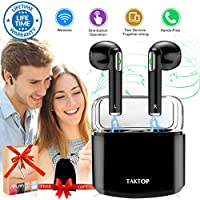 Wireless Earbuds Stereo Bluetooth Headphones with...