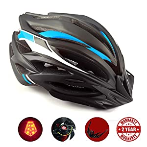 Basecamp Bike Helmet, Cycling Helmet with CPSC Safety Certified/LED Safety Light/Removable Visor/Flow Vents Safety and Comfortable for Adult Men/Women/Youth Mountain&Road