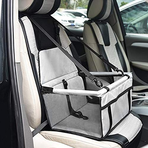 Anferstore Car Seat Pet Dog Booster,Deluxe Portable with Safety Zipper Storage Pocket Perfect for Small and Medium Pets up to 30 lbs - Booster 30 Car Lbs Seats And Up
