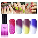 iLuve Long Lasting Soak Off Chameleon Temperature Colour Change Nail Polish with 72 Colors Choices | 4 bottle with 12ml UV Gel Polish of Color #54033