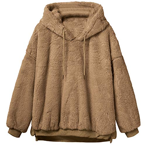 Womens Fluffy Fleece Fur Sweatshirt Clearance,Sunyastor Sherpa Winter Coat Warm Oversize Pullover Fashion Outerwear