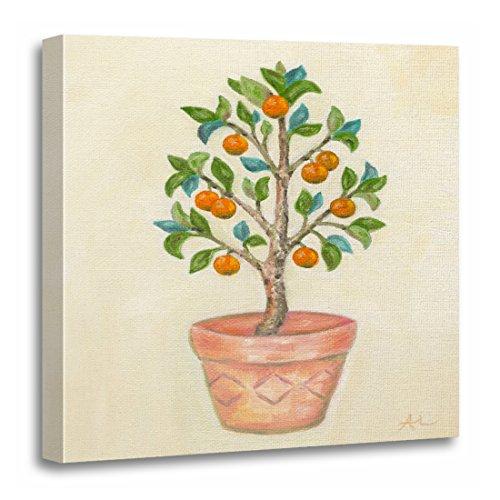 - TORASS Canvas Wall Art Print Orange Topiary Tangerine Tree Green Italian Artwork for Home Decor 20