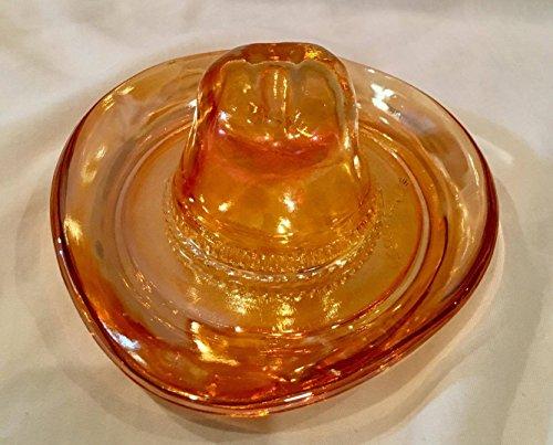 Vintage Marigold Carnival Glass Cowboy Hat (6.25