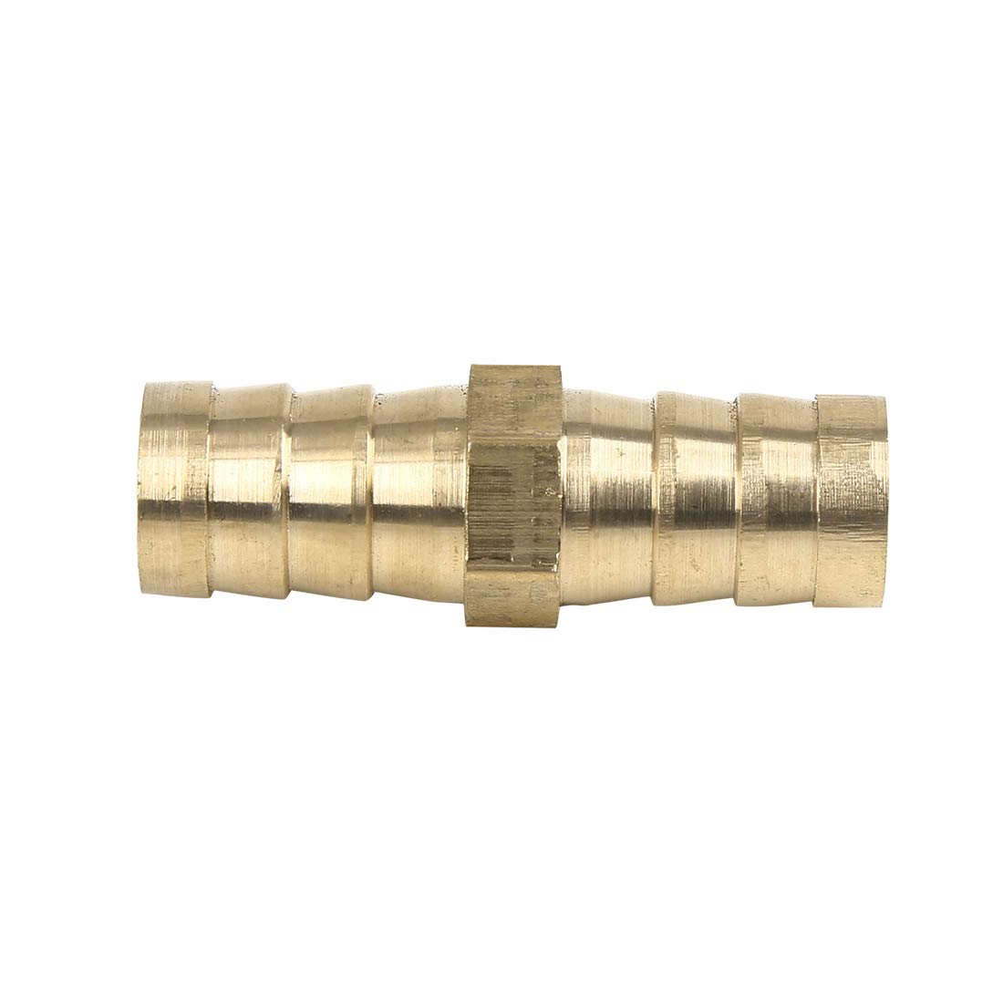 X AUTOHAUX 4mm Brass Barb Hose Fitting Straight Connector Adaptor for Air Water Gas Oil