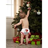 Mud Pie Baby-girls Newborn I Love Santa Bloomer