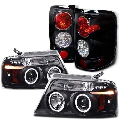 Rxmotoring 2007 F150 Headlights Halo Projector + Led Tail Light