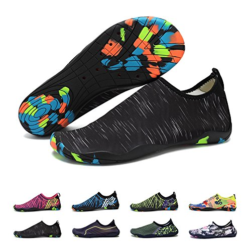 BlanKey Women Flats Quick Men Shoes Water Dry Sports Kids Barefoot Flexible Shoes Black2 Swim Beach r7qrt0