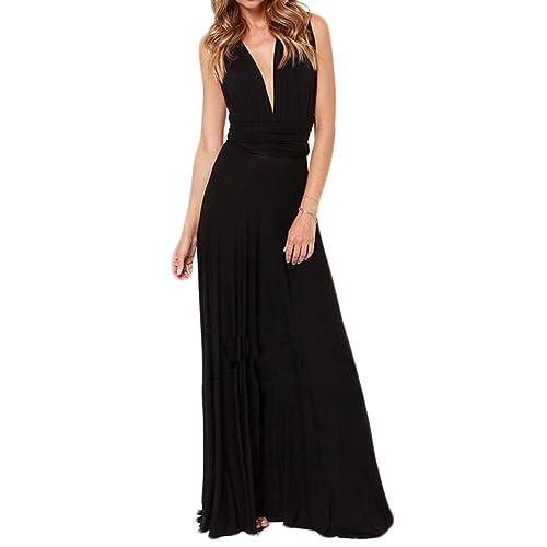 Riveroy Women's Formal Convertible Multi Way Wrap Long Bridemaid Maxi Dress