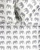 Melange Home 400TC Series Elephants Duvet Set, Twin, Grey
