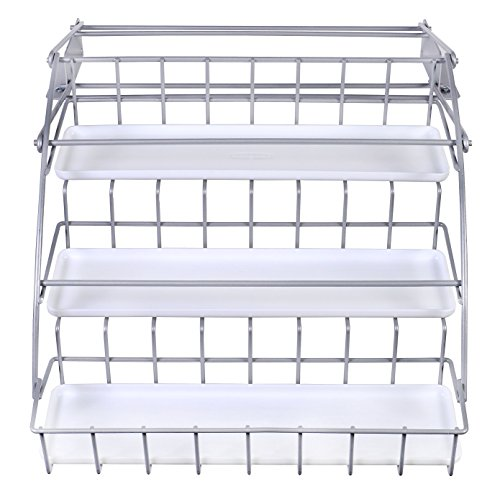 - Rubbermaid Pull Down Spice Rack, Clear 1951590