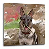 3dRose dpp_3937_2 German Shepherd Wall Clock, 13 by 13-Inch
