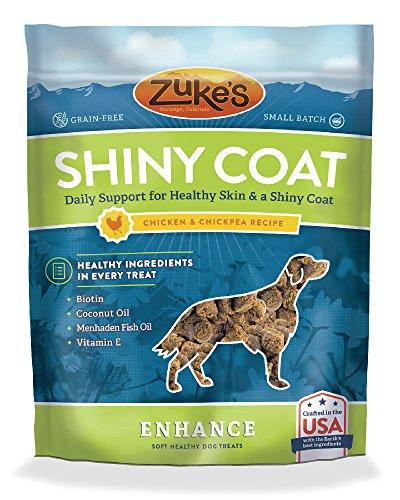 ZukeS Enhance Shiny Coat Chicken & Chickpea Recipe Dog Treats - 5 Oz. Pouch
