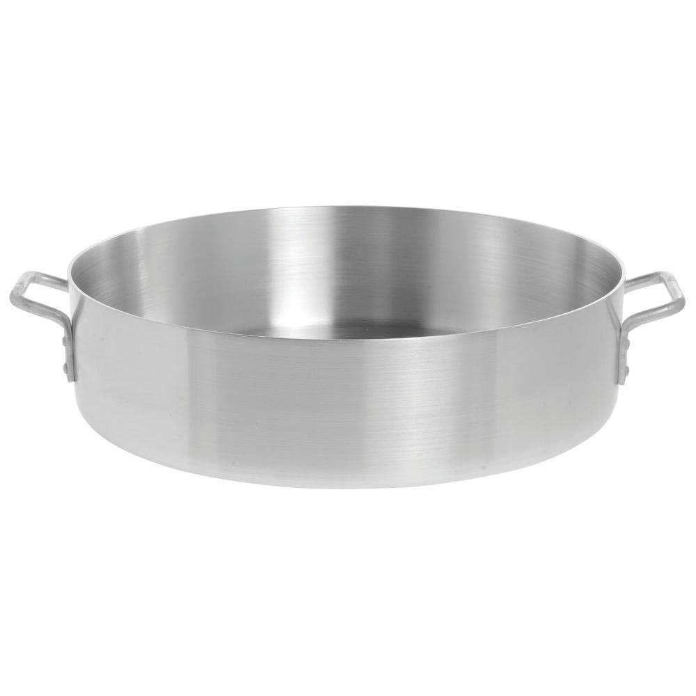 HUBERT Brazier Pan 28 Quart Aluminum - 20 1/8 Dia x 5 1/2 D