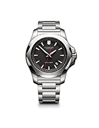 Victorinox Swiss Army Men's I.N.O.X. Watch with Black Dial and Stainless Steel Bracelet (Model: 241723.1)