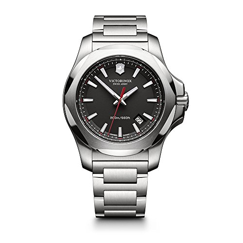 (Victorinox Swiss Army Men's 241723.1 I.N.O.X. Watch with Black Dial and Stainless Steel Bracelet)